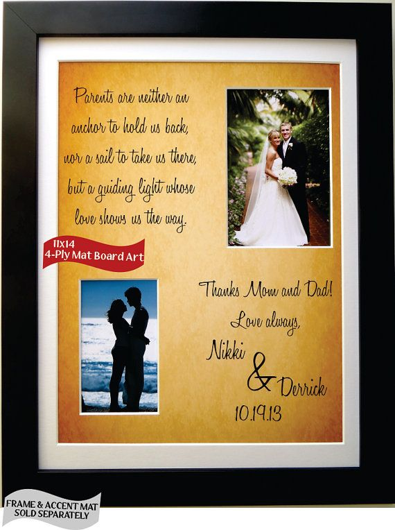 Wedding Gifts To Parents Of The Bride The Groom Gift By Picmats 45 00 Mom Wedding Gift Wedding Gifts For Parents Bride Gifts