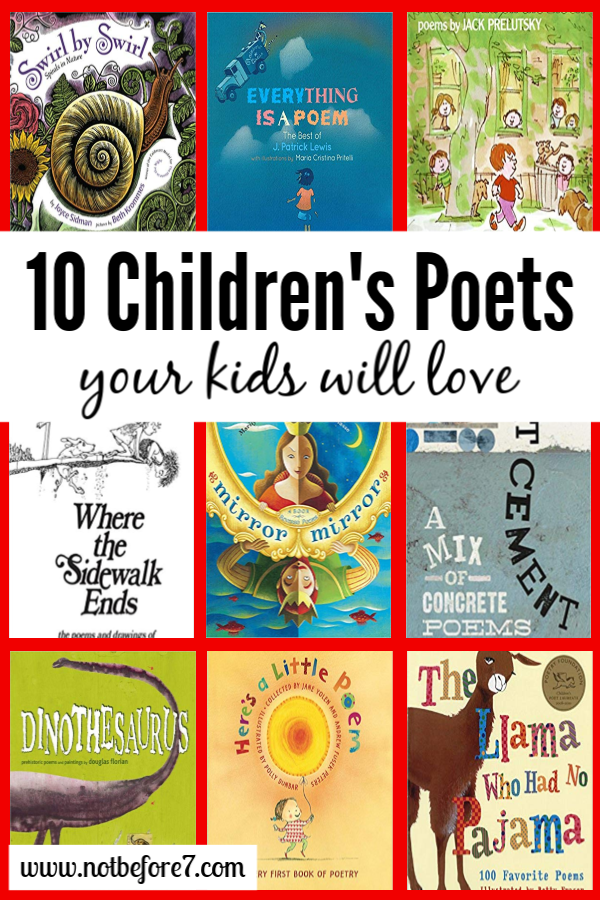 Ten Children's Poets Your Kids Will Love