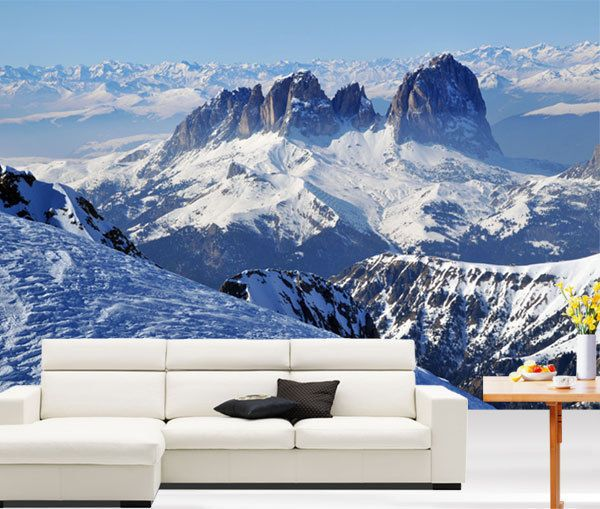 Snow mountains winter scenery 3d full wall mural photo wallpaper wall paper mural mountain snow mountains winter scenery 3d full wall mural photo wallpaper home voltagebd Images