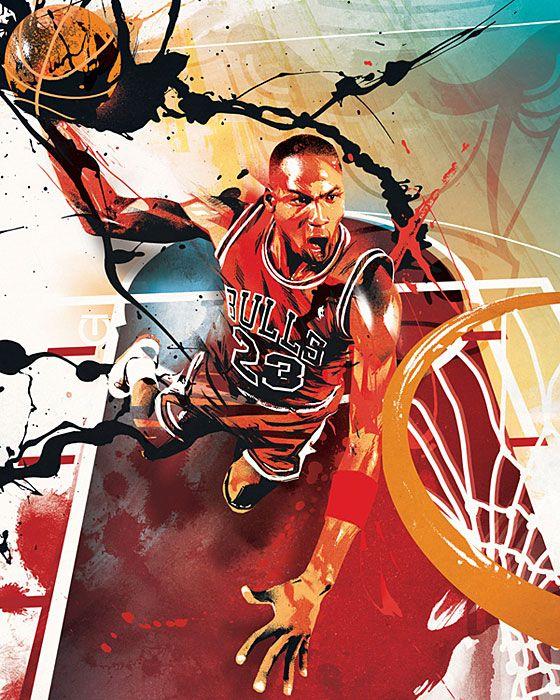 Michael Jordan An Artistic Look at the NBA Photos SI