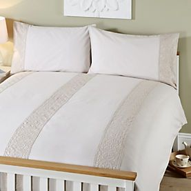 By Sainsbury S Putty Embroidered Duvet Cover Set