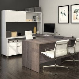 Bon Mercury Row Ariana U Shape Desk Office Suite Finish: