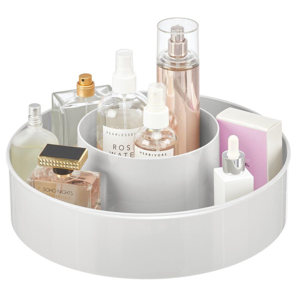 Plastic Lazy Susan Turntable For Bath Vanity Storage 12 Diameter In Light Pink By Mdesign In 2020 Cosmetic Storage Bath Vanities Cleaning Wipes