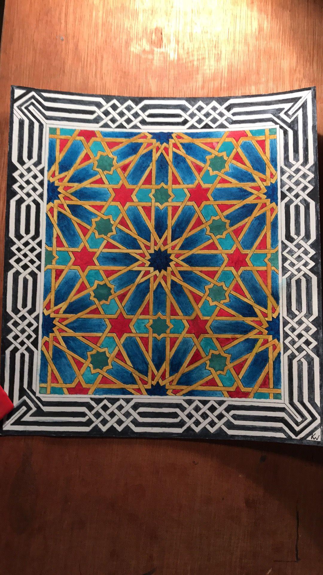 Islamic Tiles, Islamic Art, Moroccan Design, Tile Design, Geometric Patterns,