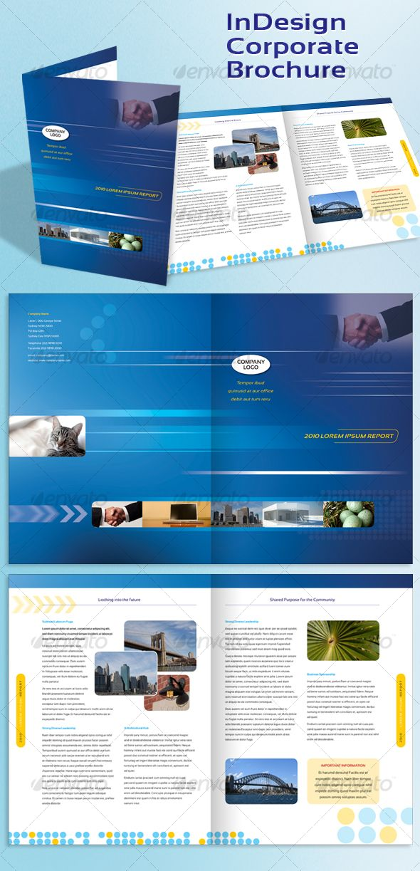 Corporate A4 Brochure Indesign Template Pinterest Indesign