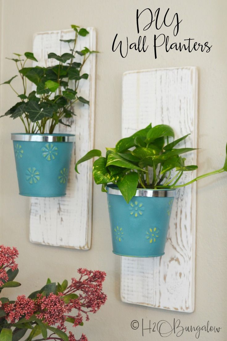 Creative Dollar Store Diy Projects Hanging Wall Planters 400 x 300