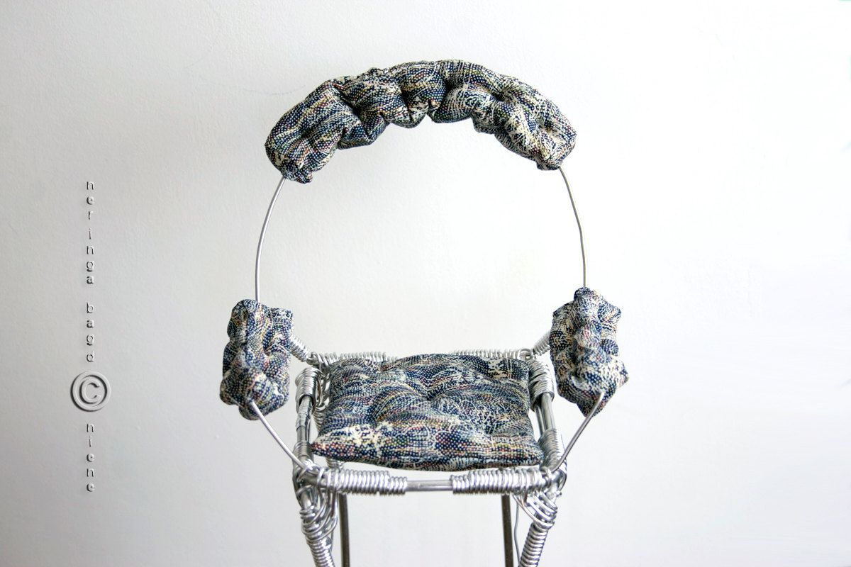 Wire display armchair for art dolls. Oversized tall and elegant ...