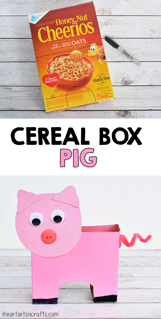 Cereal Box Pig Craft For Kids Animal crafts for kids