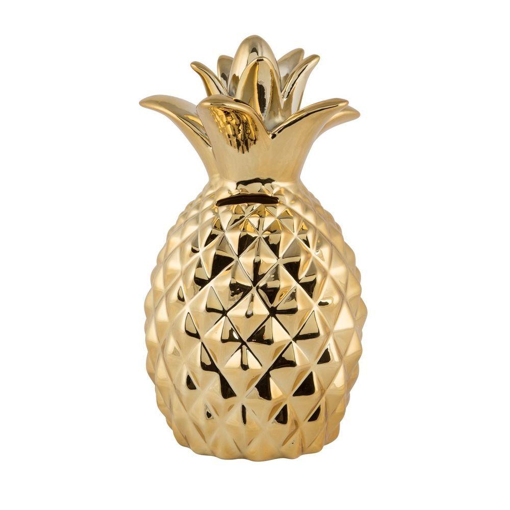 Black /& Gold Pineapple Trinket Dish Jewellery Novelty Box Bowl Pot Holder Gifts