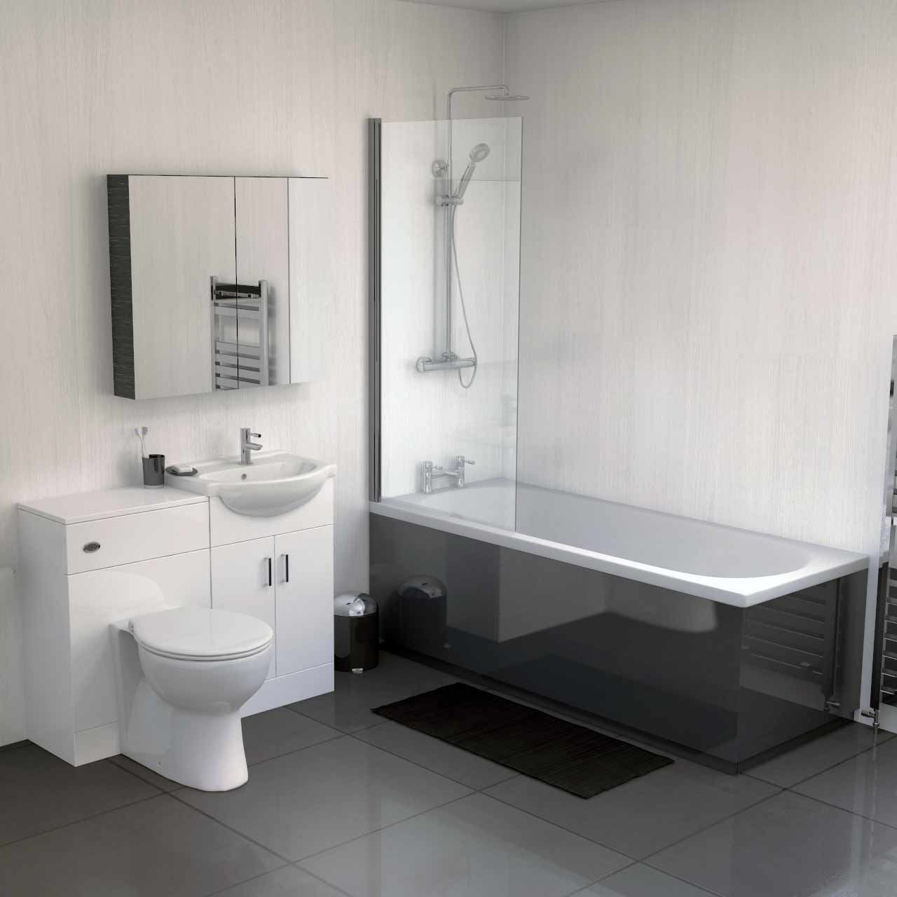 1800 Grey Gloss Bath Front Panel | Complete bathrooms, Complete ...