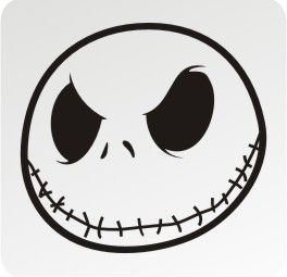 jack skellington face template - jack skellington face google search baileys 7th