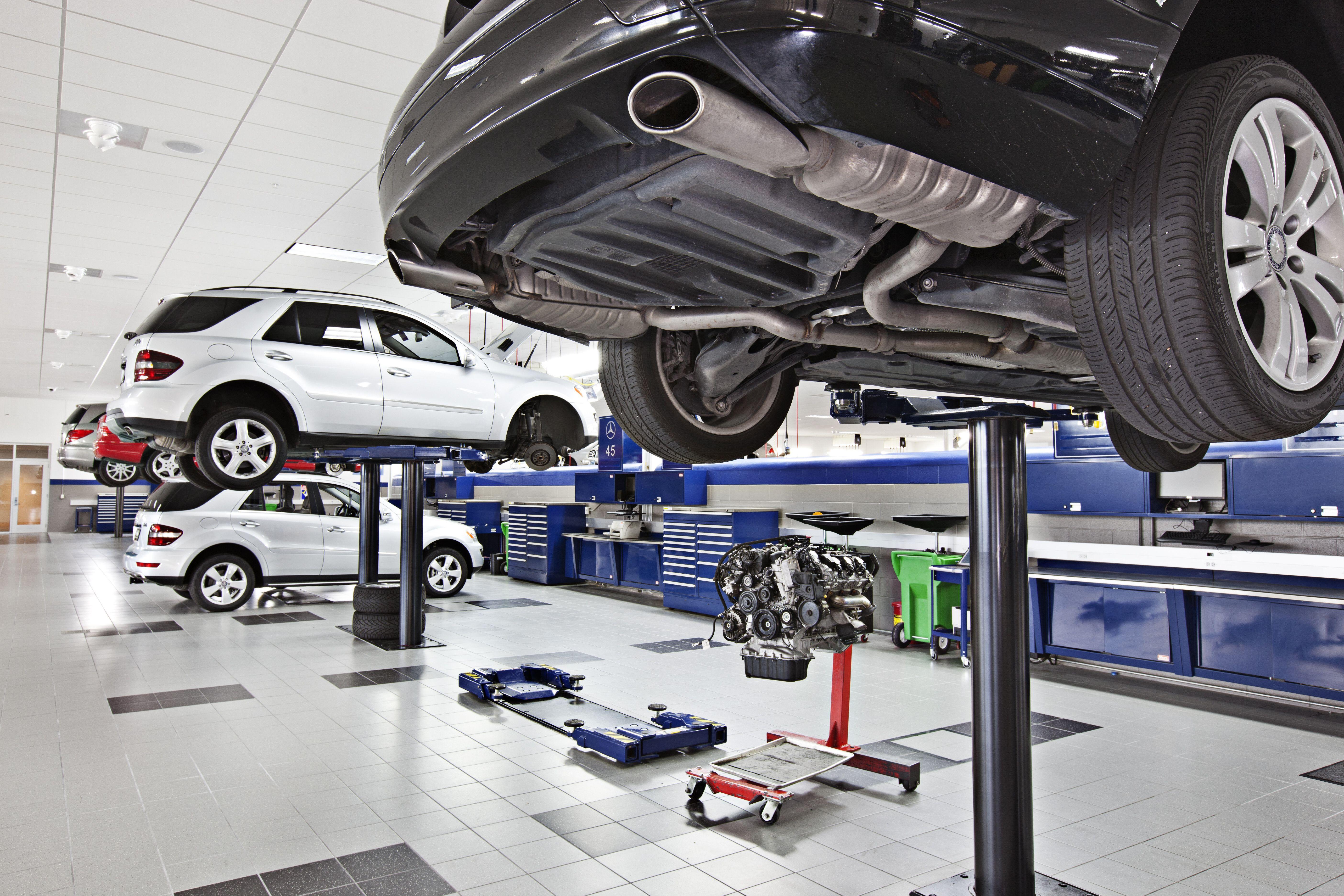 State of the art MercedesBenz mechanical shop in