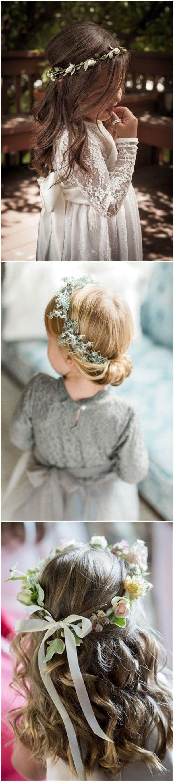 Flower Girl Hairstyles Interesting 22 Adorable Flower Girl Hairstyles To Get Inspired  Pinterest