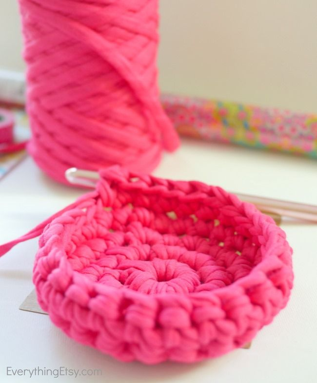 Free Crochet Bowl Pattern {Get Organized   Trapillo, Cesto y Cestas