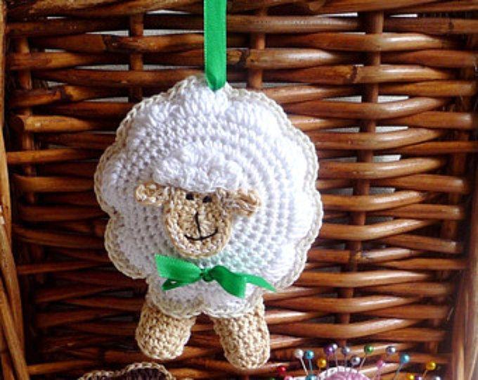 Crochet Sheep Coaster Pattern - Sheep Pattern - Lamb Pattern ...