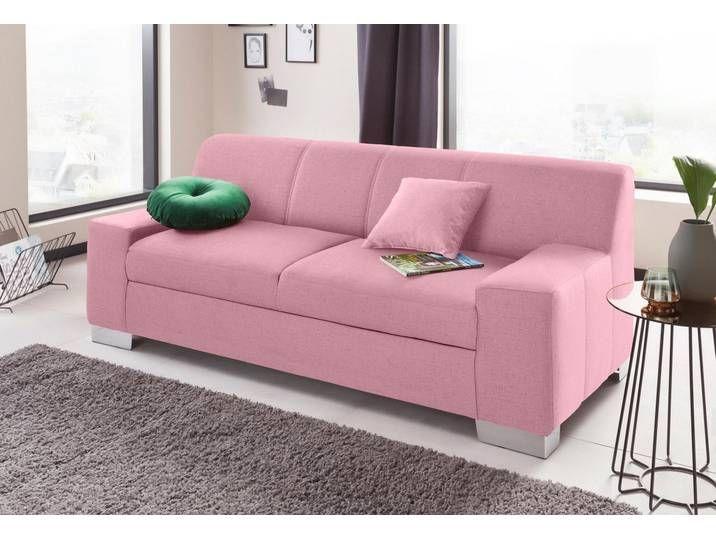 Domo Collection 2 Sitzer Rosa Flamingo Zierkissen Zweisitzer Sofa 3 Sitzer Sofa