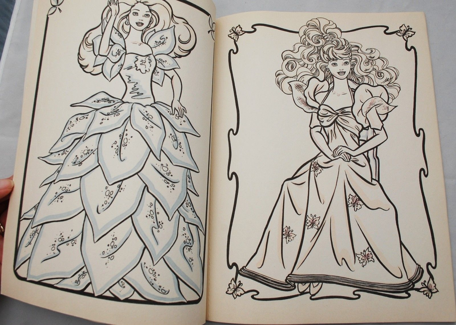 Barbie Paint With Water Coloring Book 1990 Unused Golden 1785 4 With Brush