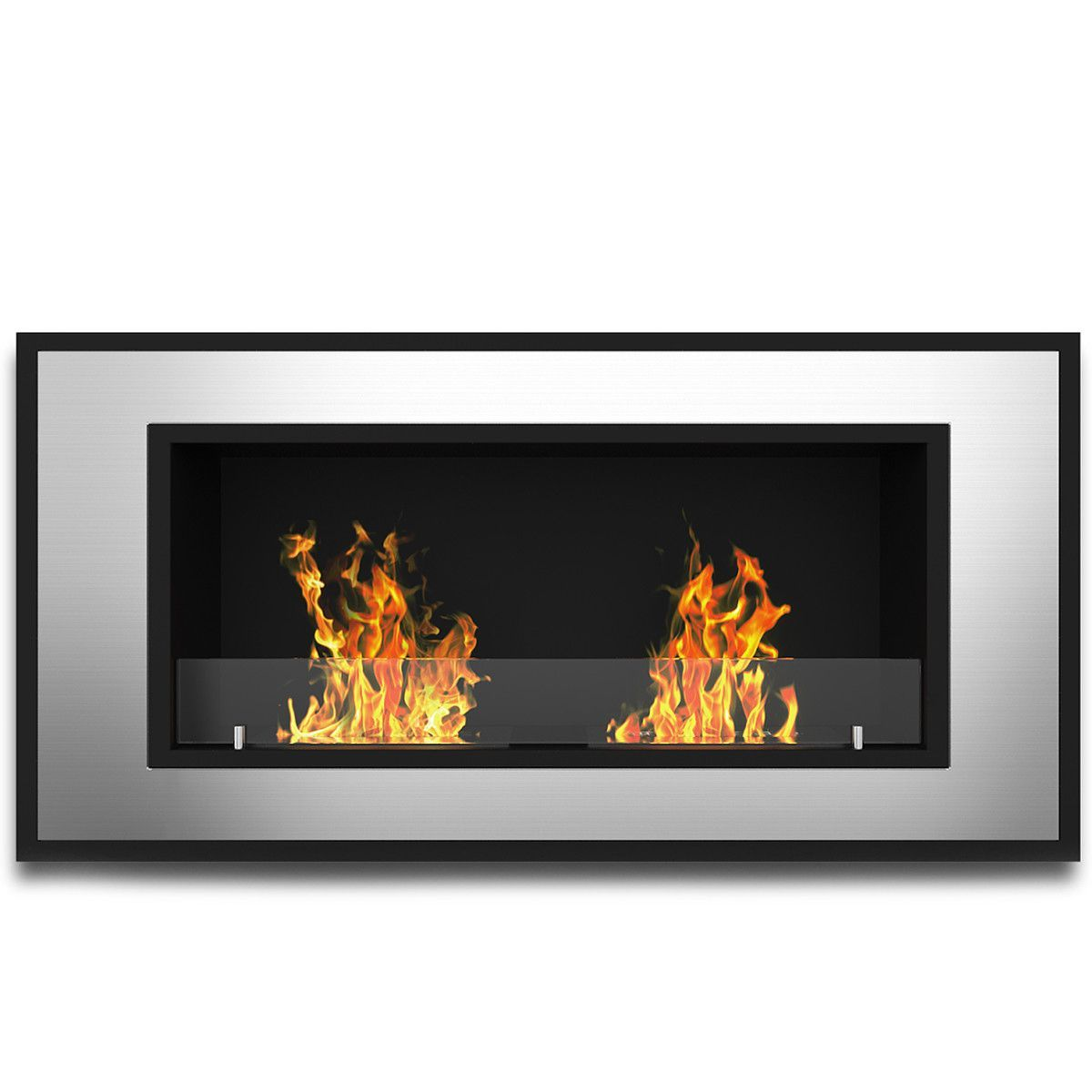 tulsa ventless recessed or wall mounted bio ethanol fuel fireplace
