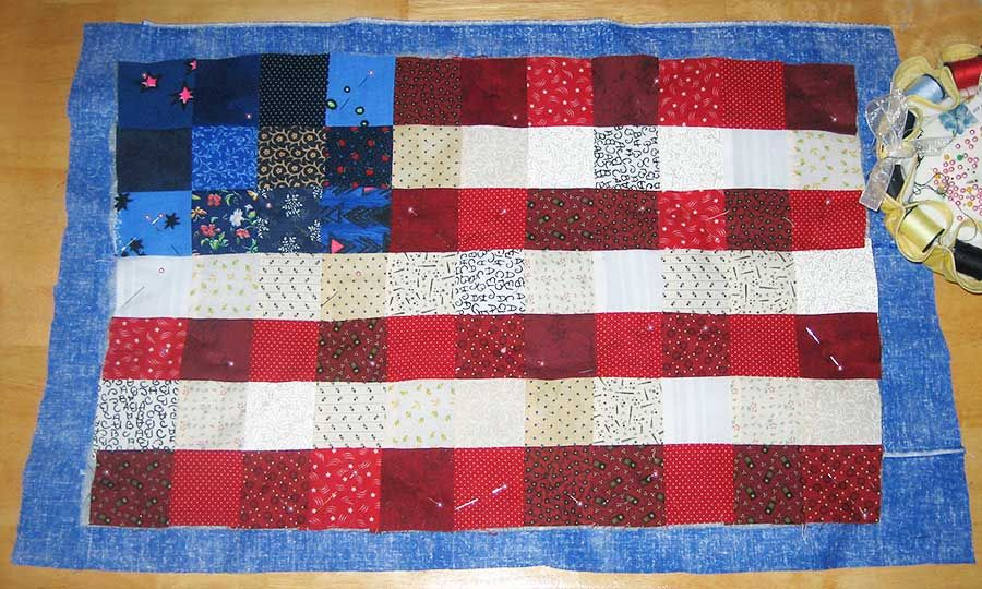 Jill Made It: American Flag Wall Hanging Tutorial