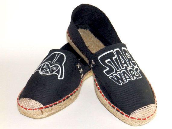 74a01ae7e3f Alpargatas de Star Wars bordadas Zapatillas Pintadas A Mano