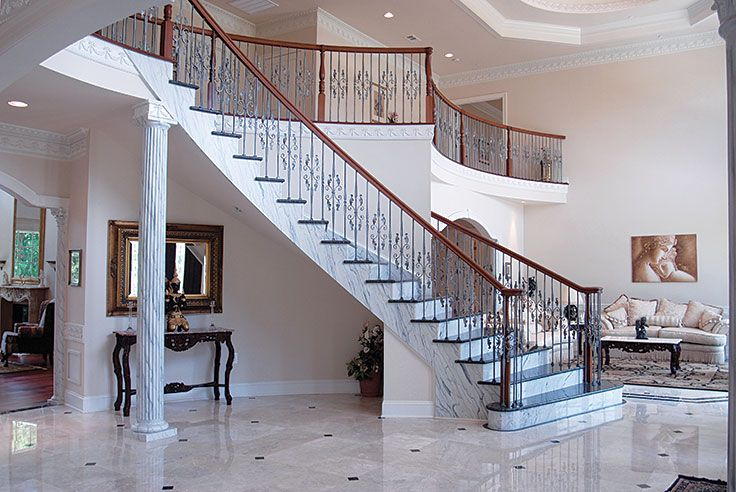 A 2 Story Entrance Foyer From A Custom Home In Our Luxury Series With Marble Flooring Www Classicmd Net Home Design Magazines Classic House Home