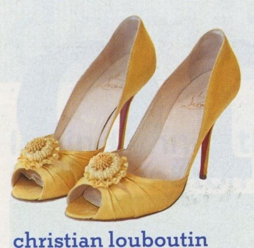 Buttery Yellow Heels By Christian Loubuotin Bridesmaids Yellow Heels Ivory Wedding Shoes Heels