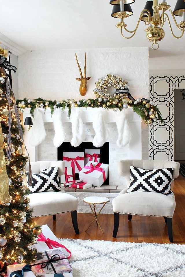 Holiday Home Tour Pink DecorationsChristmas Holiday