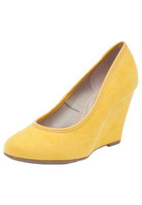 a319e12fec Scarpin Beira Rio Bico Redondo Amarelo. Scarpin Beira Rio Bico Redondo  Amarelo Comprar Sapatos Online ...
