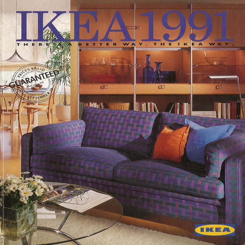 The 1991 ikea catalogue cover ikea catalogue covers for Interior decoration 1990s