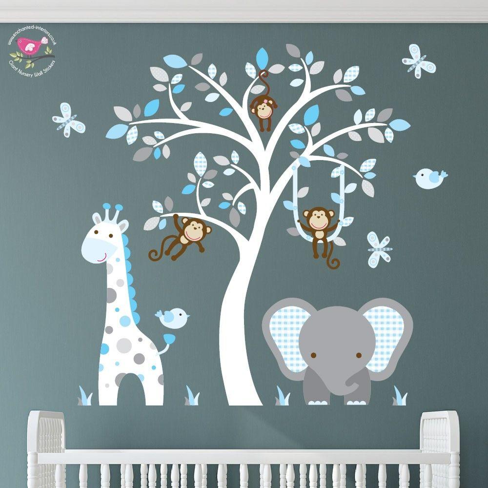 Jungle Animal Nursery Wall Art Stickers Lukas Nursery Pinterest