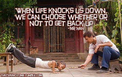 Karate Kid Quotes Delectable Dont Give Up The Karate Kid  Film Quotes  Pinterest  Motivation