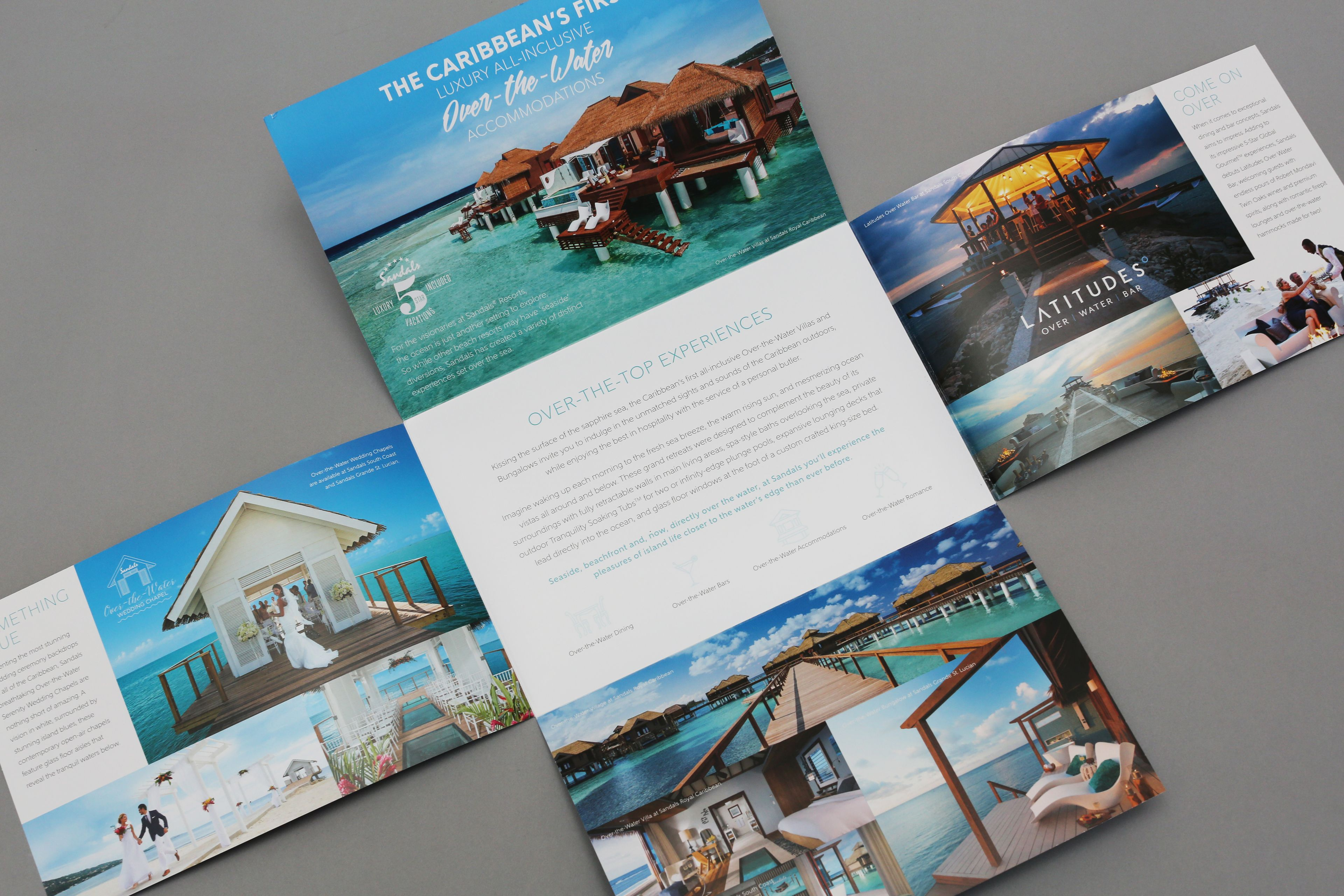 sandals foldout brochures