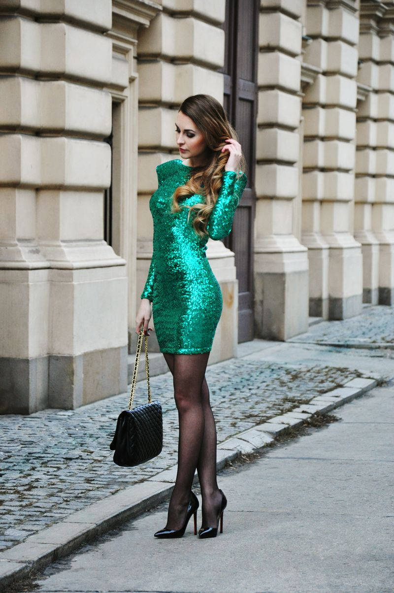 Party time | Party time, Green glitter and Christian louboutin shoes
