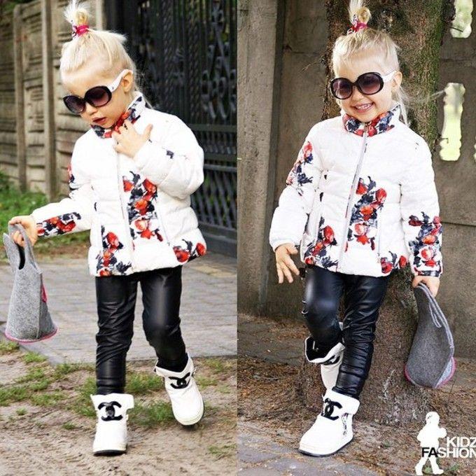 Kids Leather Look Leggings