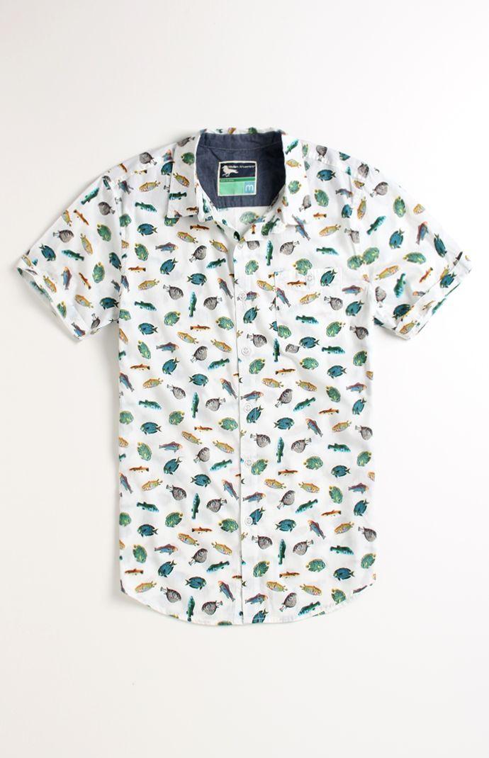 dc737f5de33 Modern Amusement Fishing Printed Short Sleeve Woven Shirt  pacsun ...
