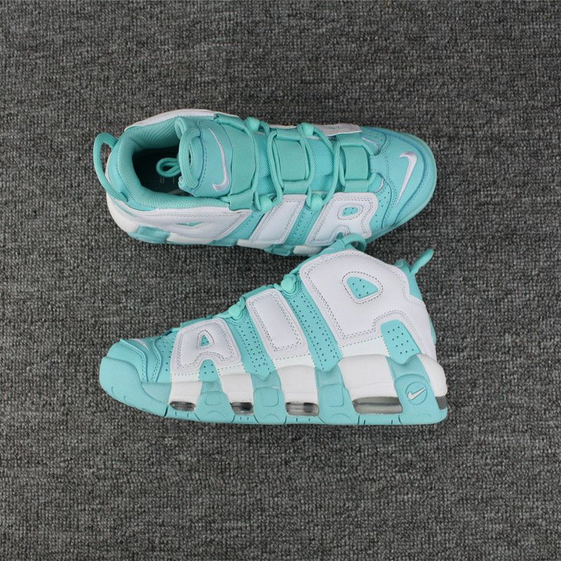 new concept c55d2 5c5ef 2018 Official Nike Air More Uptempo GS Island Green Island Green White-Island  Green 415082