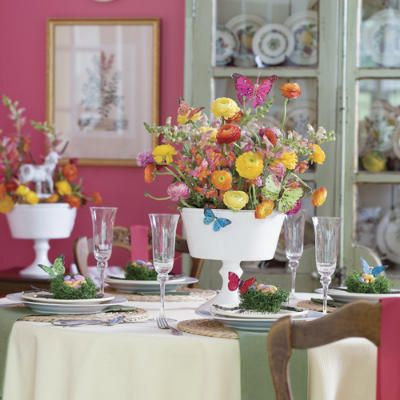 Spring Table Settings & Spring Table Settings | Centerpieces Easter and Unique centerpieces
