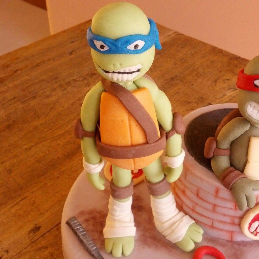 Ninja turtle cake topper (con immagini)