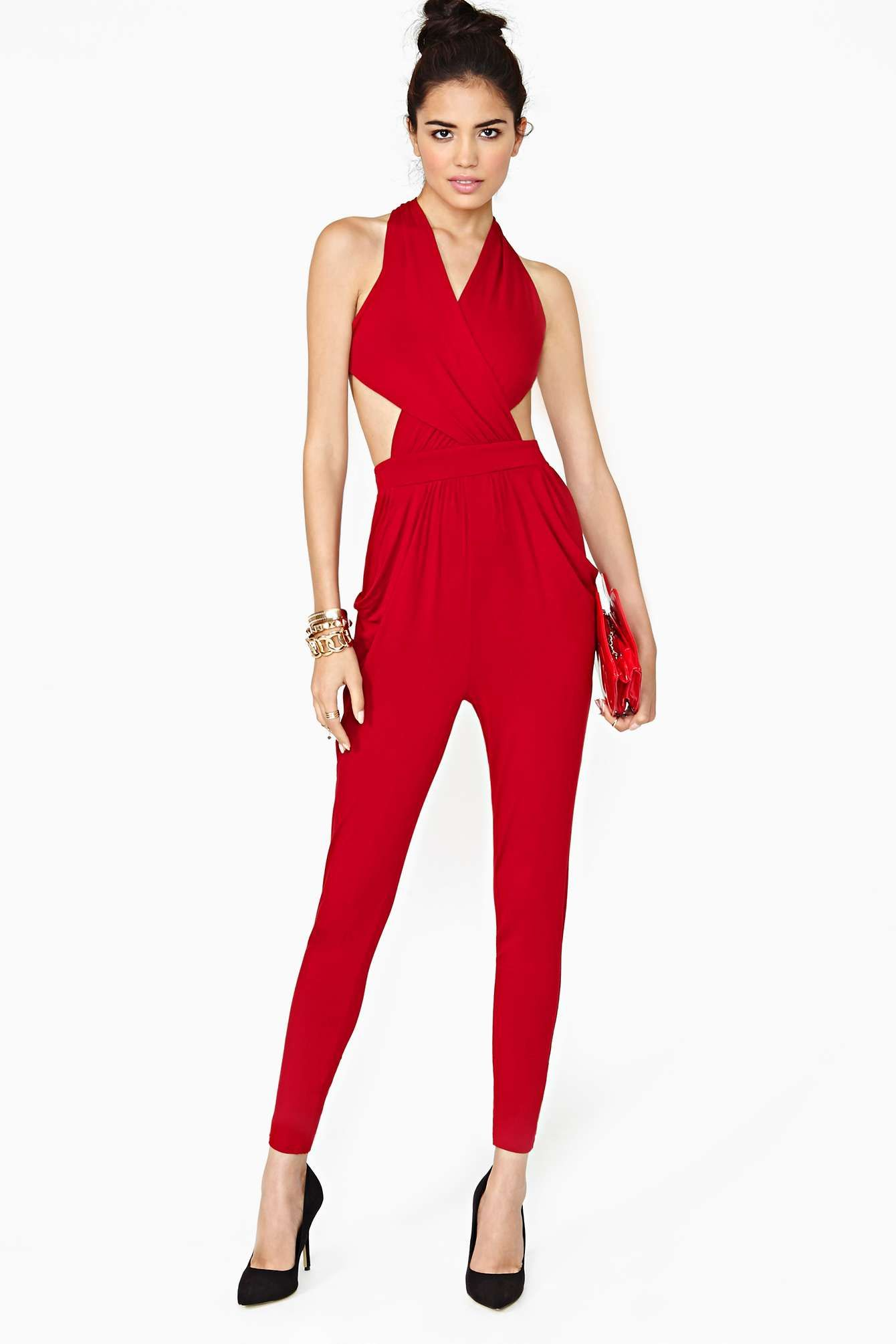 Beautiful Red Jumpsuit | tenuestyle | Beautiful Red Jumpsuit Ideas ...