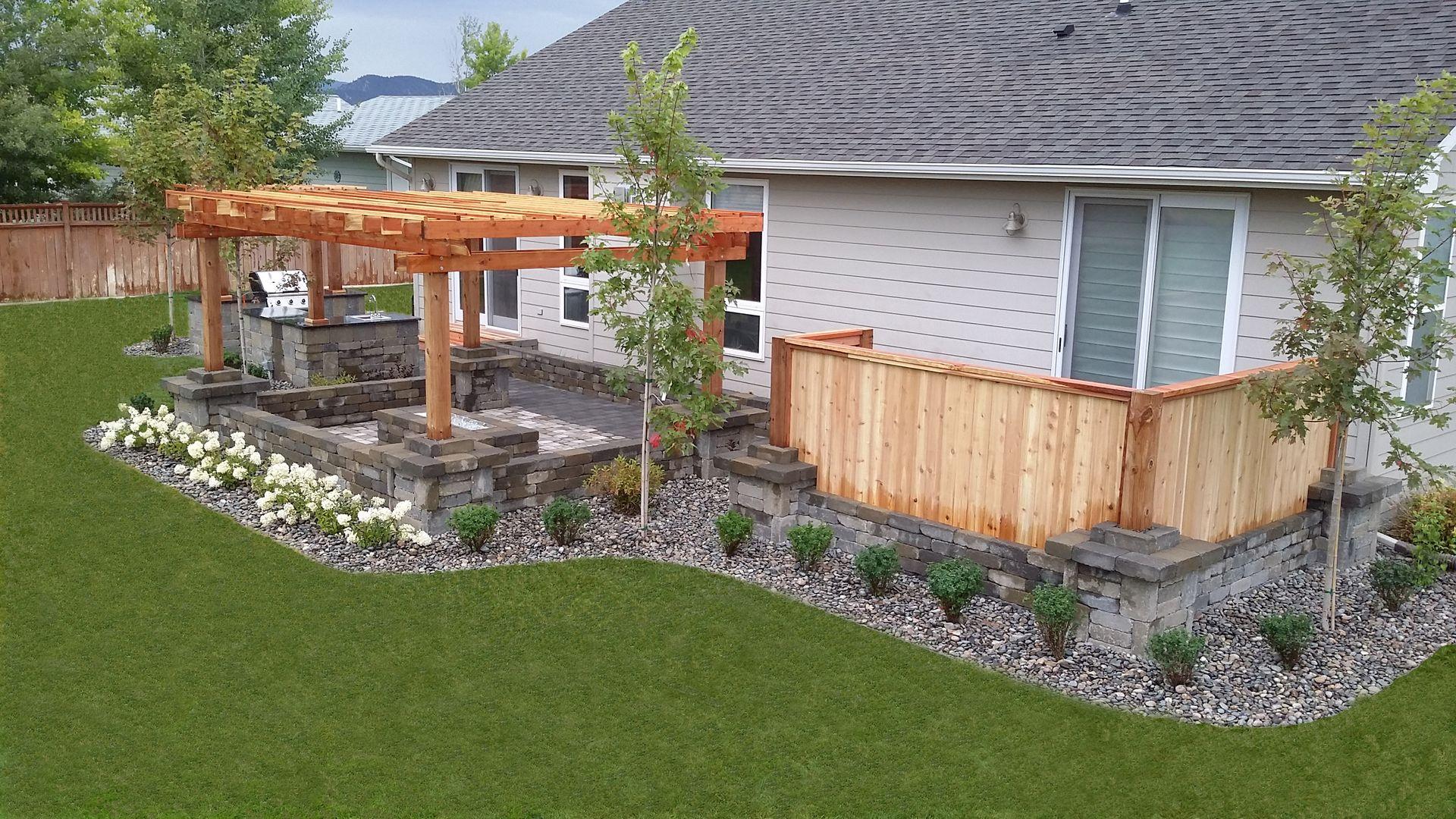 Image result for colorado backyard landscaping  Backyard