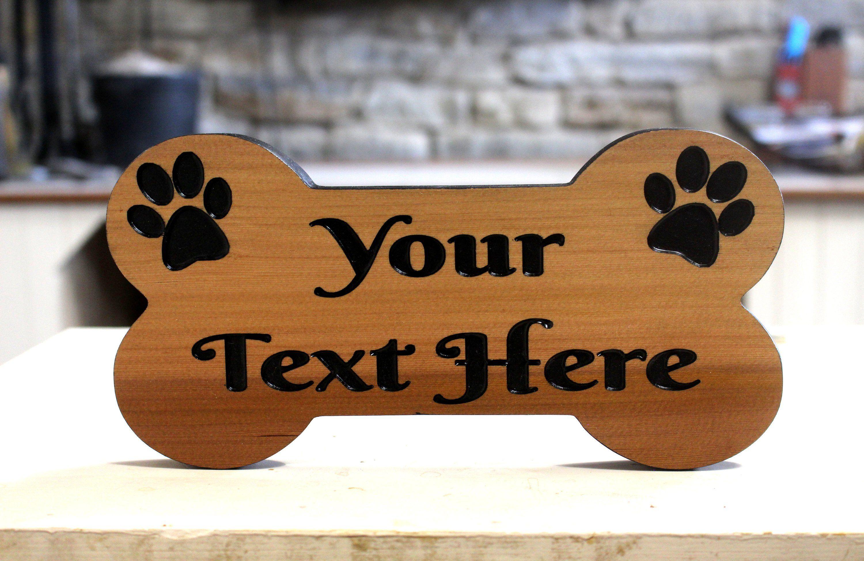 Custom Dog Bone Sign Wood Dog Carved Wood Signs Custom Wood