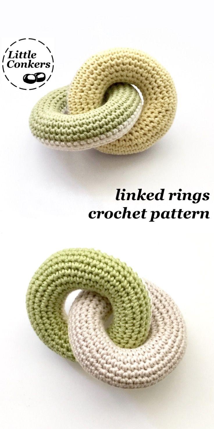 Linked Rings Toy Crochet Pattern / Baby Crochet Pattern / Teething ...