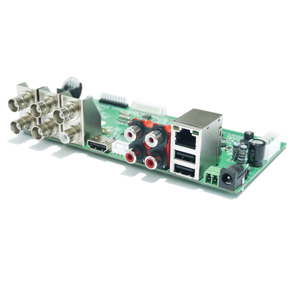 4Ch 5MP H.265//H.264 AHD//TVI//CVI//CVBS//IP 5In1 Board NVR DVR Network Digital CCTV
