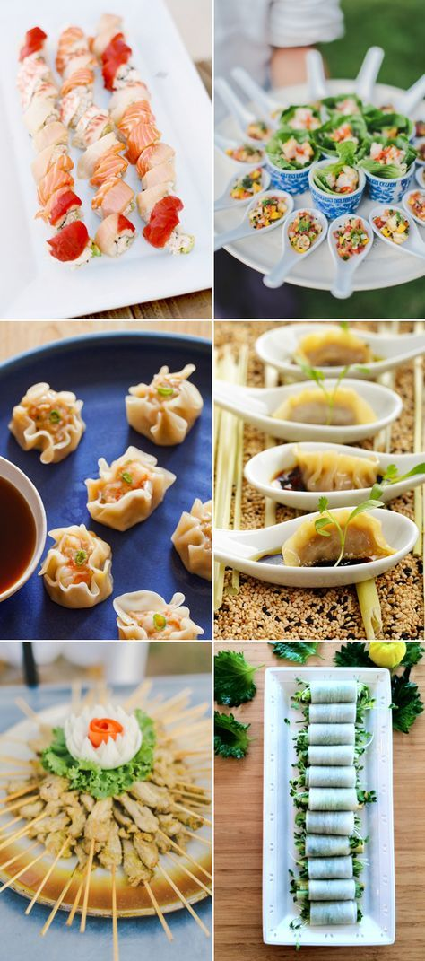 Attention Foodies Here Comes 2016 Wedding Food Trends Praise Wedding Buffet Food Asian Appetizers Food Trends