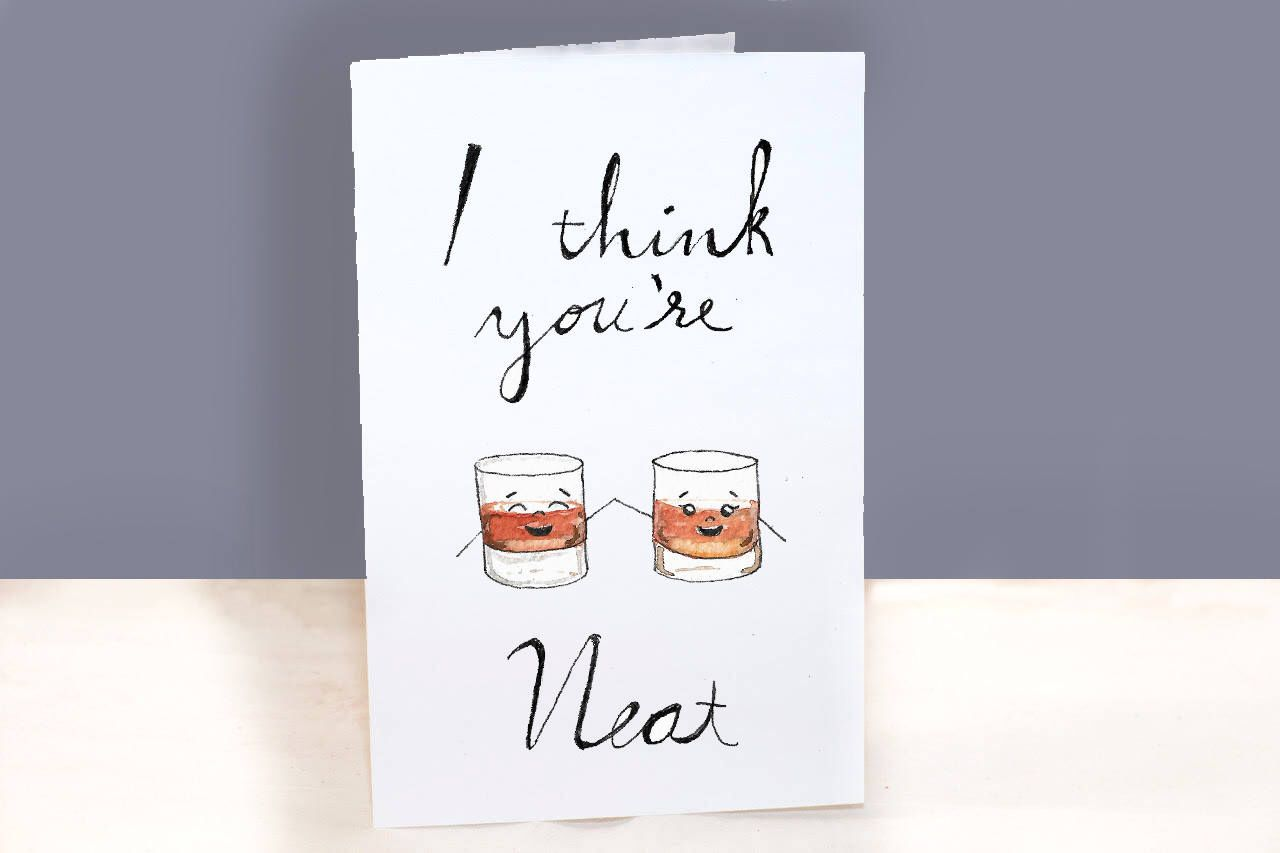 Punny Valentines Day Card Whiskey Lover Valentines Day Card Etsy Punny Valentines Valentines Puns Cards