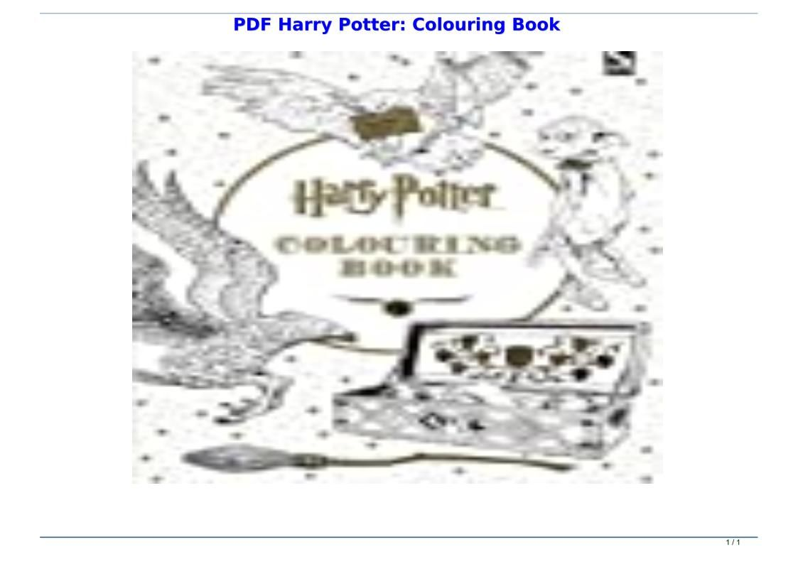 Pdf Harry Potter Colouring Book Harry Potter Coloring Book Harry Potter Colors Coloring Books