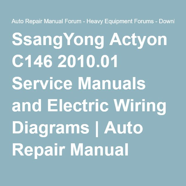 Service Manuals And Electric Wiring Diagrams Auto Repair Manual ...