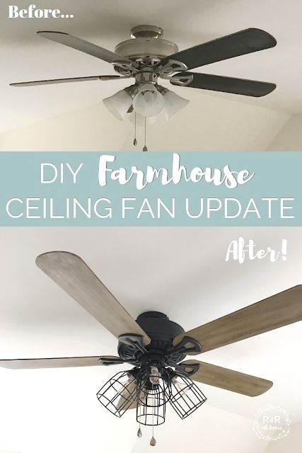 One Room Challenge Week 4 Diy Farmhouse Ceiling Fan Update In 2020 Farmhouse Ceiling Fan Ceiling Fan Diy Ceiling Fan Update