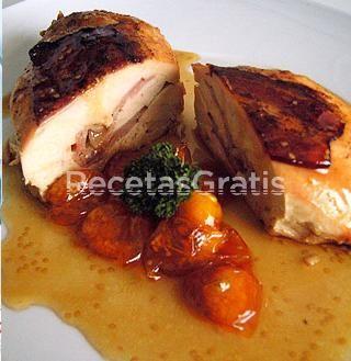 Receta de Pechugas de pollo con salsa de mango