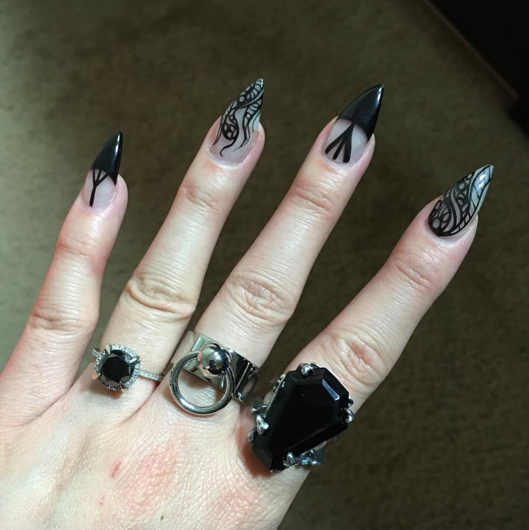 Negative Space Necromancy in 2020 | Witchy nails, Soft ...
